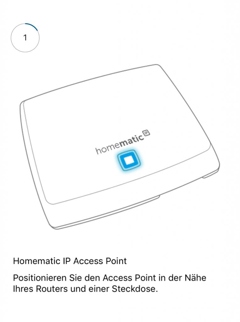 Installation des Access Point vom Smart-Home-System Homematic IP von eQ-3