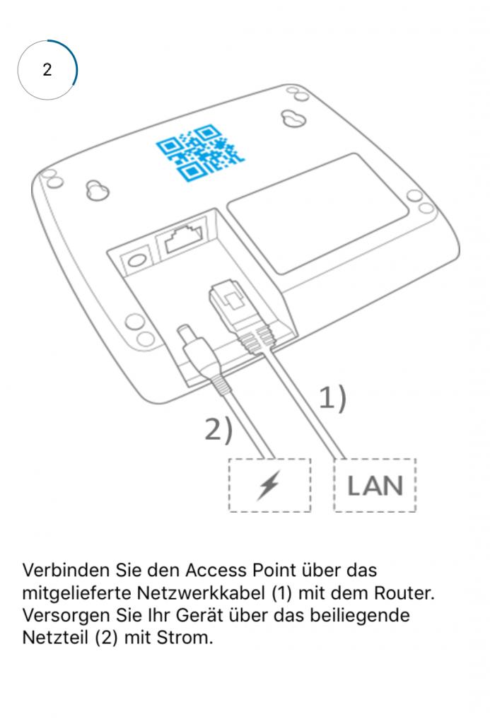 Verbindung des Access Point vom Smart-Home-System Homematic IP von eQ-3