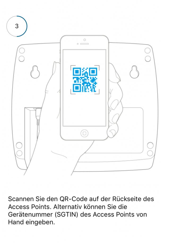 Scannen des QR-Code vom Smart-Home-System Homematic IP von eQ-3