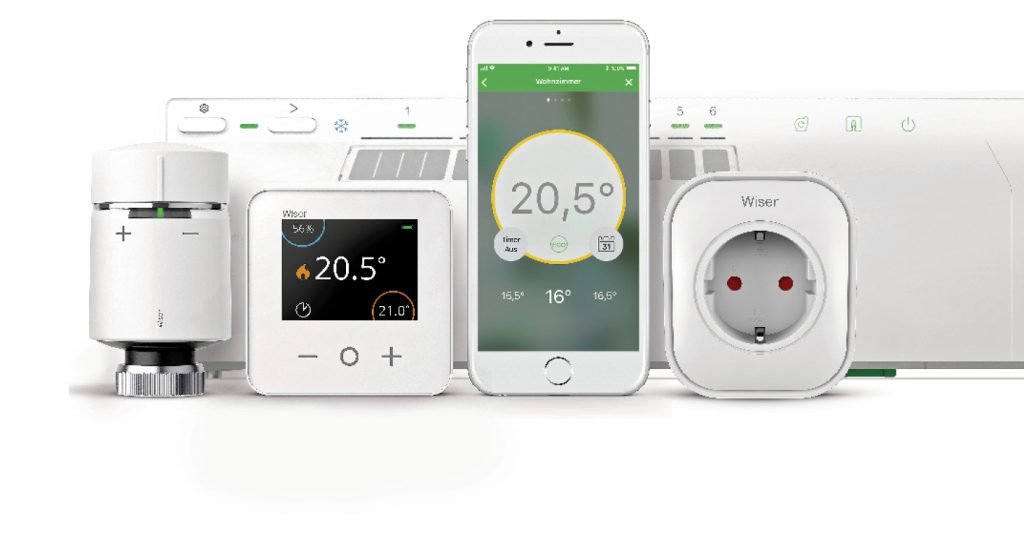 Wiser Heat App, Thermostat, Panel