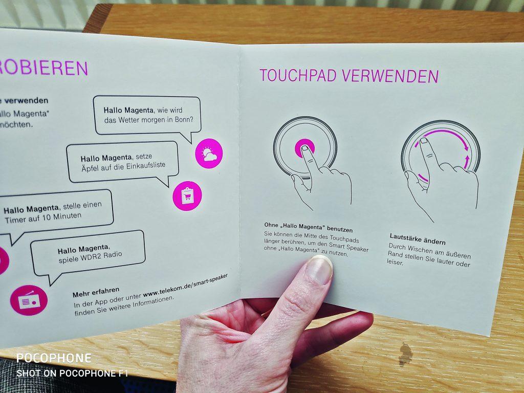 Anleitung Smart Speaker Telekom