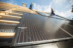 Einbau eines Solarmodules