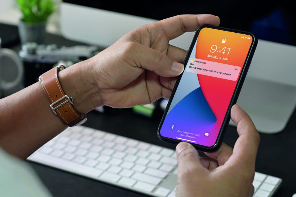 Smartphone und ekey App